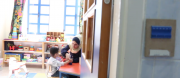 MCC is working with some very innovative teachers. Like the good people at Holyland Institute for the Deaf and Deafblind (HLID) from Jordan teaching tactile signing to children. 1:19