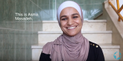 We'd like to introduce you to a wonderful human we get to work with. Asma Masadeh from Jordan. :46