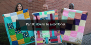 How to tie together the layers of an MCC comforter. Part 2 of 3 of the step-by-step guide. 6:46