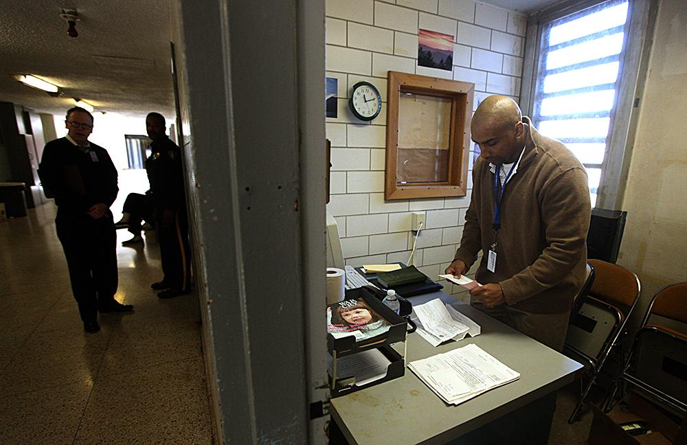"""<span class=""""photo-caption"""">Muse organizes the inmate requests he received. Prisoners ask for material such as Bibles and study guides as well as the opportunity to meet one-on-one.</span><span class=""""photo-credit"""">MCC Photo/Silas Crews</span>"""