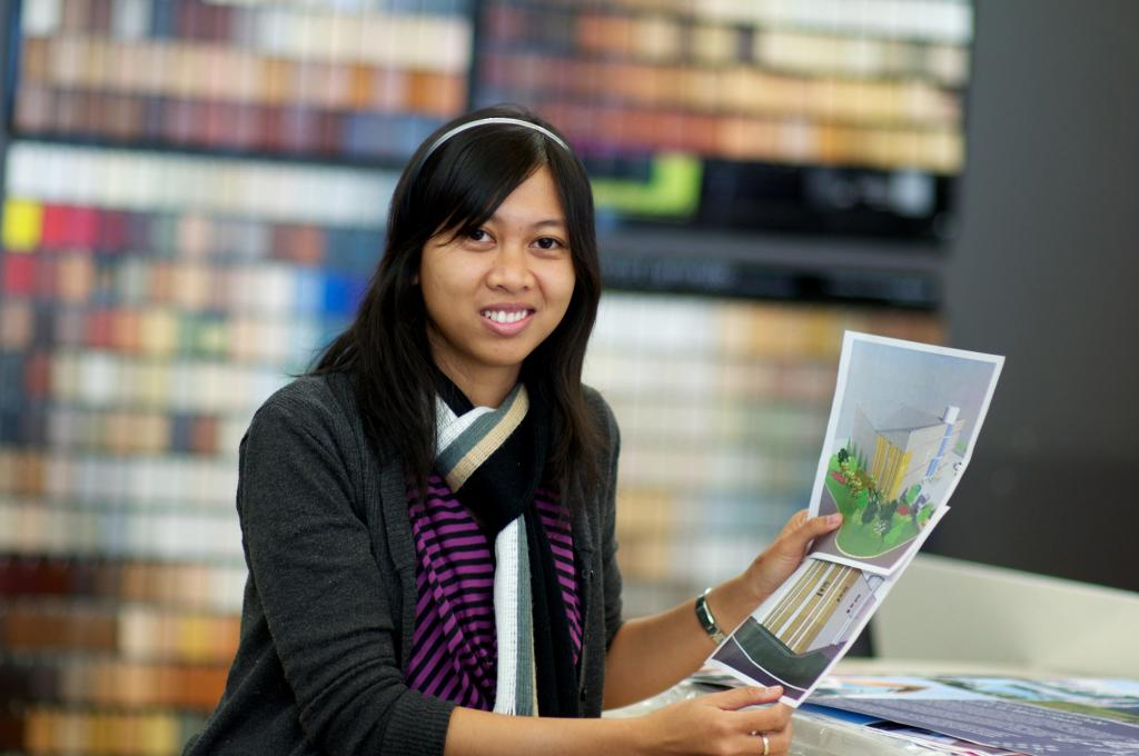 """<span class=""""photo-caption"""">RanyPutriis an architect from Indonesia who participated in MCC's International Volunteer Exchange Program in 2011-2012. She assisted staff ataodbt, an architecture and interior design firm in Saskatoon, Sask.</span><span class=""""photo-credit"""">MCC photo by Chai Bouphaphanh</span>"""
