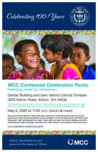 Kidron Centennial Celebration Picnic poster - English