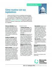 Spanish version- how to meet with your legislators