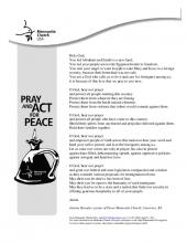 Prayer for peace (English)
