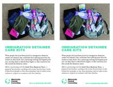 MCC CS immigration detainee care kits