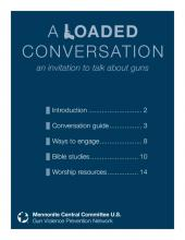 PDF of a guide to conversations about gun violence