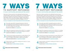 Printable brochure, 7 ways to support refugees