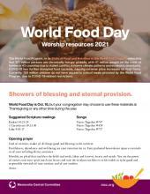 World Food Day 2021 worship resources (PDF 590.48KB)