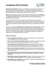 MCC U.S. immigration policy principles