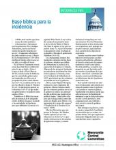 Biblical basis for advocacy in Spanish