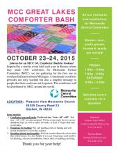 MCC Great Lakes Comforter Bash Poster for Goshen