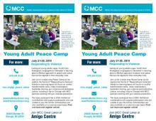 Young Adult Peace Camp flier