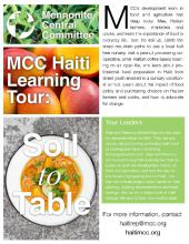 Haiti Soil to Table learning tour brochure