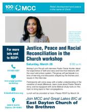 Justice, Peace and Racial Reconciliation in the Church - poster
