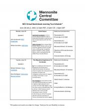 Schedule: 2021 MCC Great Lakes Virtual Borderlands Learning Tour