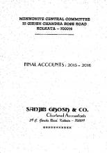 MCC India external audit 2015-2016.