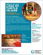 Poster for Loss of Turtle Island event in Normal, IL