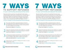 7 ways to support refugees