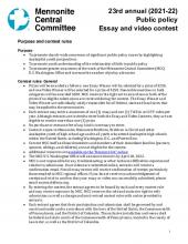 High School essay and video contest purpose and rules 2021-22 (PDF 217.95KB)