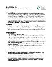 DREAM Act fact sheet