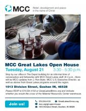 MCC Great Lakes 2018 Open House - poster
