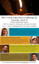 Poster for Ohio Peace Gathering - April 16, 2016