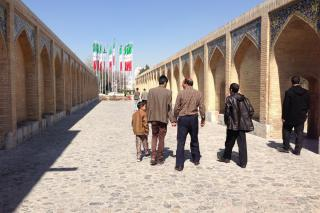 A bridge in Isfahan, Iran