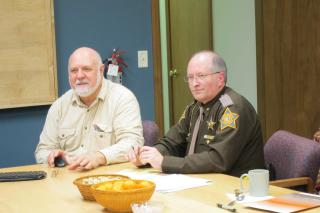J. Fred Kauffman with Elkhart County Sheriff Brad Rogers