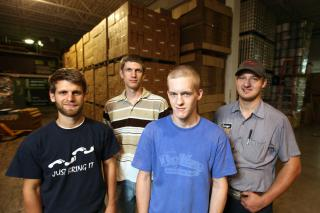 MCC canners are (left to right) Aaron Ressler, Jeffrey Durksen, Ryun Lawrence and George Wieler, Jr.