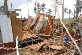 People in Dalinding described a south wind for several hours. Then a complete calm and sunshine as the eye of the typhoon passed over them. Then several more hours of a north wind (MCC Photo/Dan and Jeanne Jantzi)