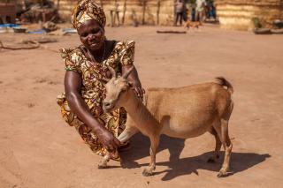 Denenadji Josephine with goat