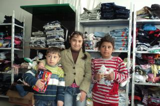 In the region of Qalamoun, Syria, Mennonite Central Committee is giving blankets to these children and many other families who have fled from Homs. Other donors are providing clothes and toys. The children's names were not used for security reasons.