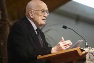 Robert Kreider speaking at MCC commissioning service, March 30, 2012.