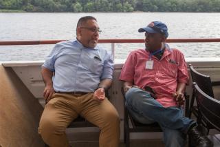Two MCC board members chatting