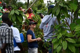 Vanessa visiting a farmer's field.