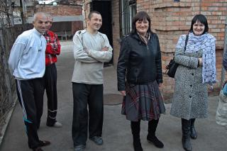 Photograph of Natalia Mezentseva, Olga Poznyakhouskaya, Oleg Ruchitsa, Andrei Rusnokov and Vitalik Gorbunov