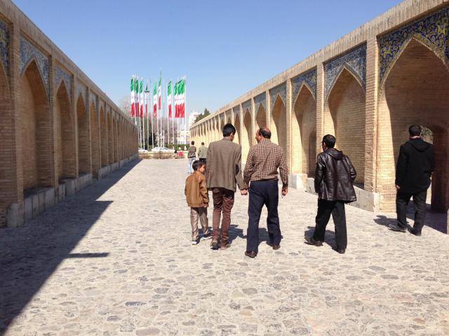 A bridge in Isfahan, Iran