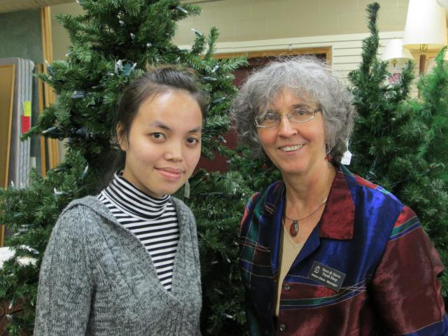 Helen Glick with Nalinh Inlatsamy