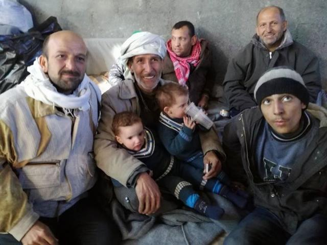 Displaced people in Aleppo