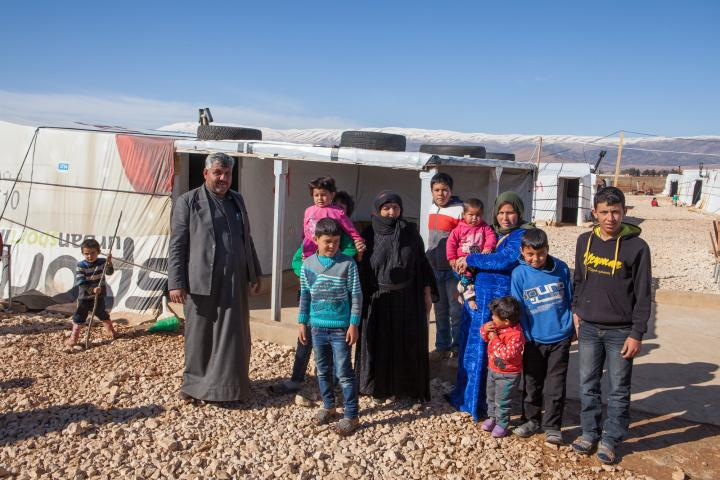 Syrian refugee families living in tents in Lebanon receive fuel from MCC.