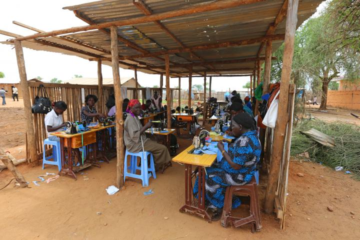 Each year, 20 women participate in this six-month program supported by MCC. At the completion of the program, participants can buy their sewing machine at a reduced rate.