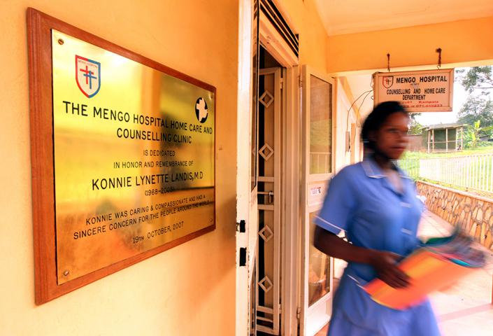 An MCC partner organization, the Mengo Hospital Home Care and Counselling Clinic, provides physical, emotional and spiritual care for people living with HIV in and around the city of Kampala, Uganda. MCC supports the clinic's weekly home visit program, as well as providing funding for clubs for children and adolescents living with HIV and stipends for staff.