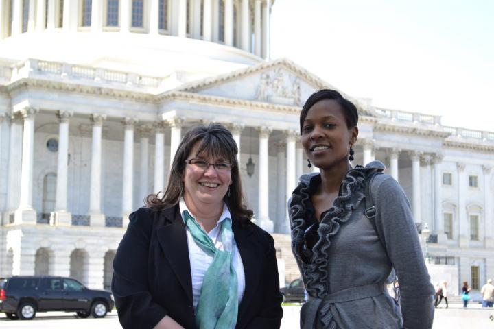 Beth Good (left) is Health Coordinator for MCCand PatriciaKisare(right) is a legislative associate in MCC's Washington Office. They're visiting Capitol Hill to speak with congressional offices about funding for global HIV/AIDS programs.