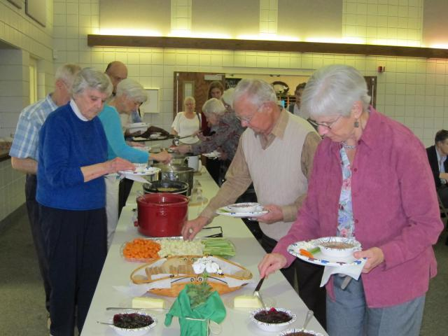 Attendees enjoyed a simple soup meal provided by local congregations.