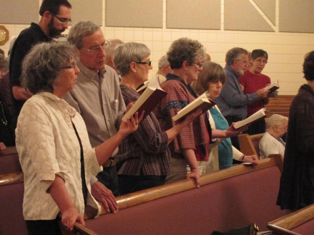 Singing together was an important part of the Celebrate MCC Great Lakes events throughout the region.
