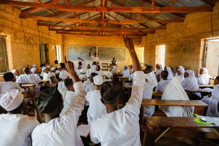 In areas of Nigeria wracked by conflict, MCC partner Emergency Preparedness Response Team works to build trust between Christian and Muslim communities and discourage discrimination.MCC has supported this peace club in Wase Islamic Secondary School.