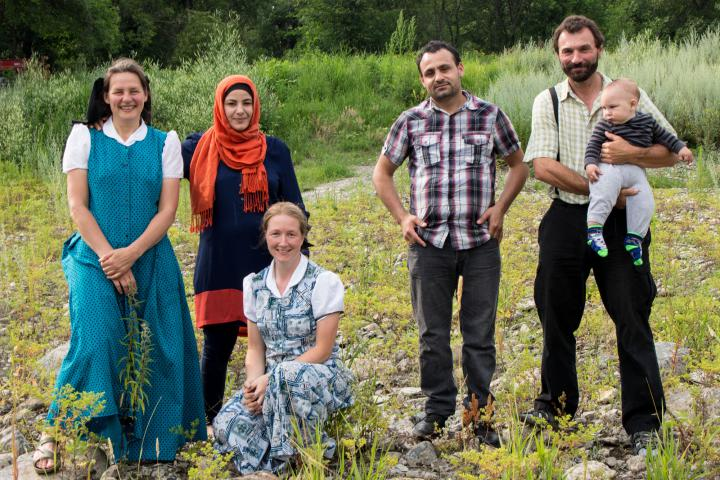 A Hutterite woman chronicles the arrival of a Syrian family.