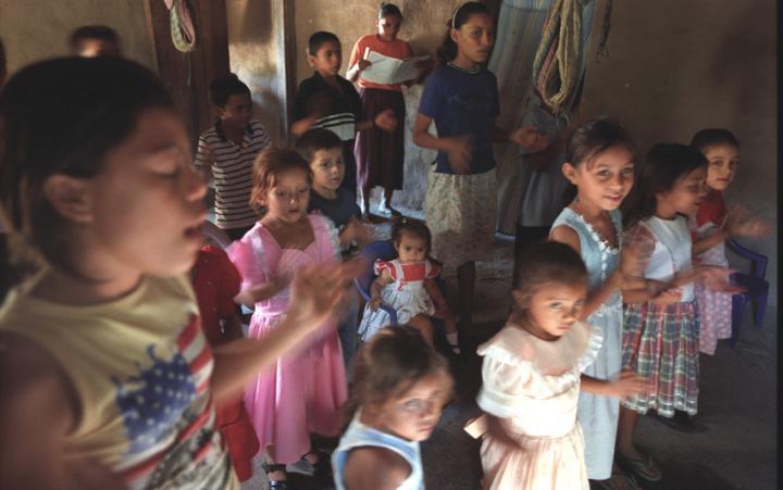 Honduran children at BIC church