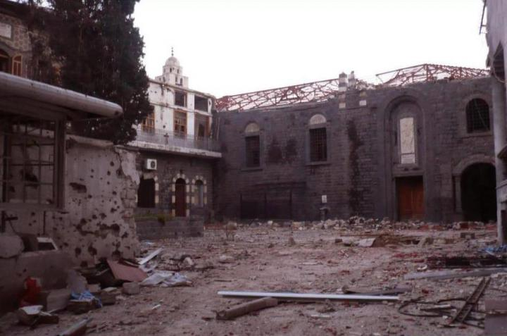 Destroyed churches in Damascus, Syria