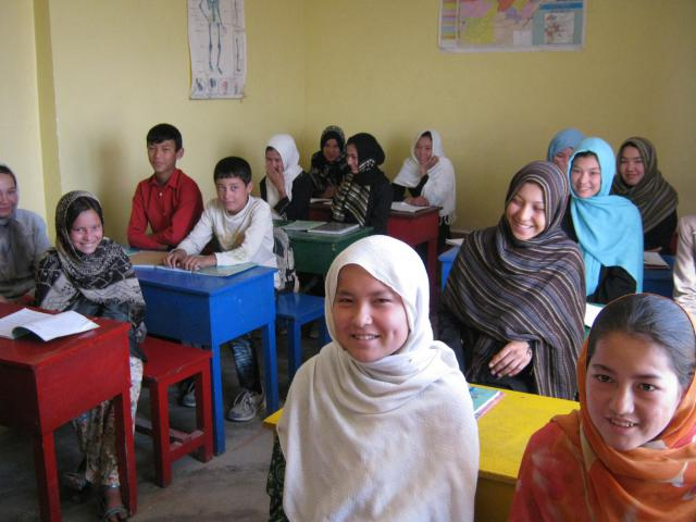 At Le Pelican, a training center in Afghanistan, Hazara girls and boys can become literate as they learn practical skills to help them earn money. These children, whose photo was taken in 2010, are not named for their protection.